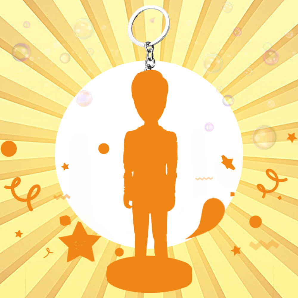 Single Person Fully Customizable Bobbleheads with key chain
