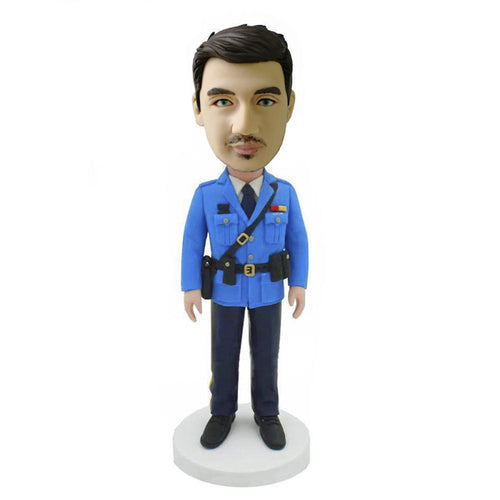 Blue Uniform Policeman Bobblehead