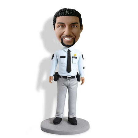 Light Blue Shirt Policeman Bobblehead