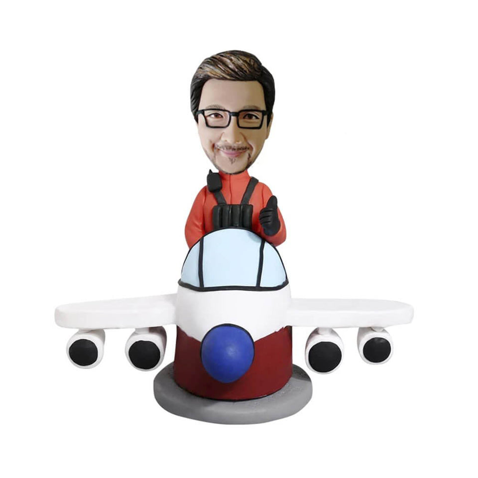 Pilot on the plane Bobblehead