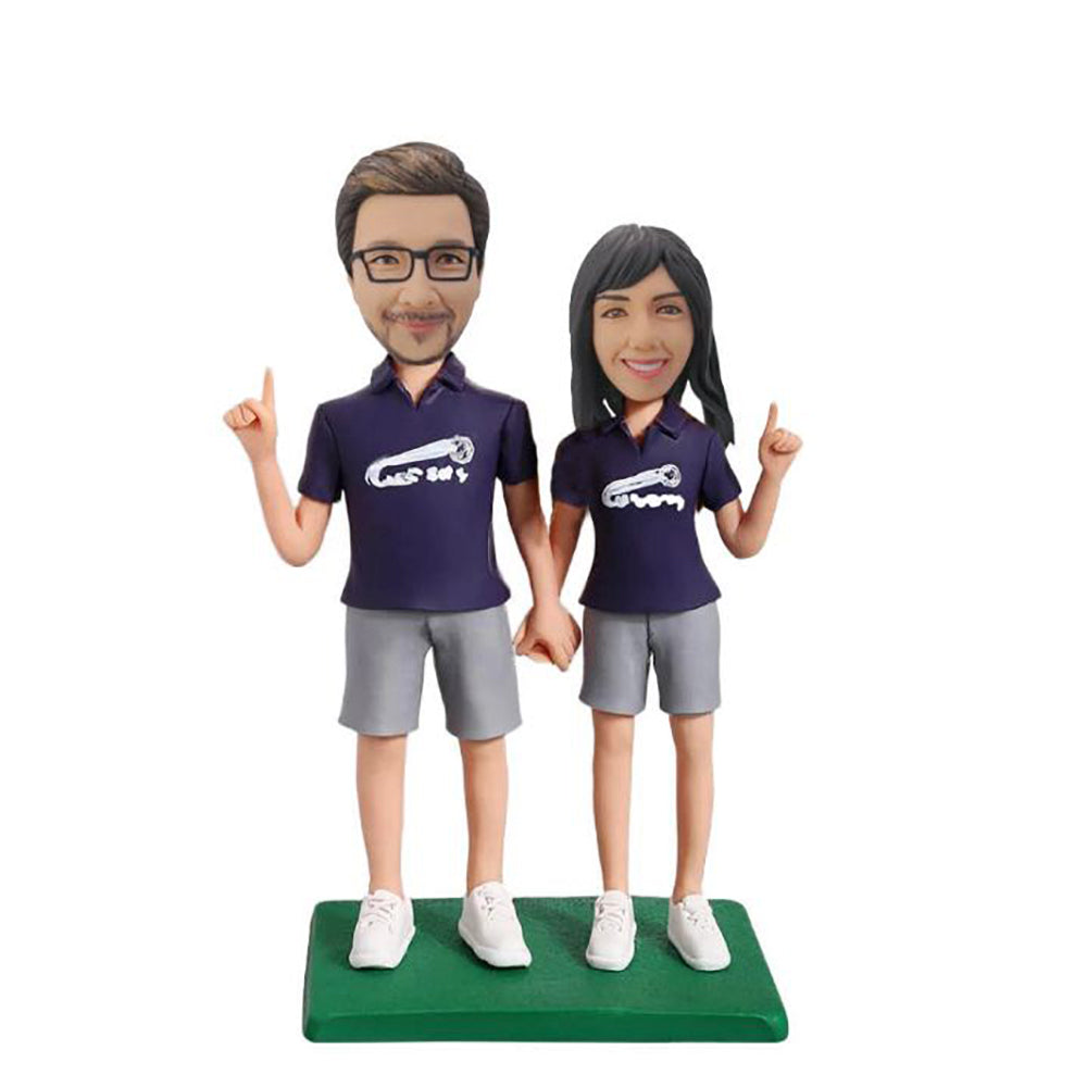 Short Pants Couple Bobblehead