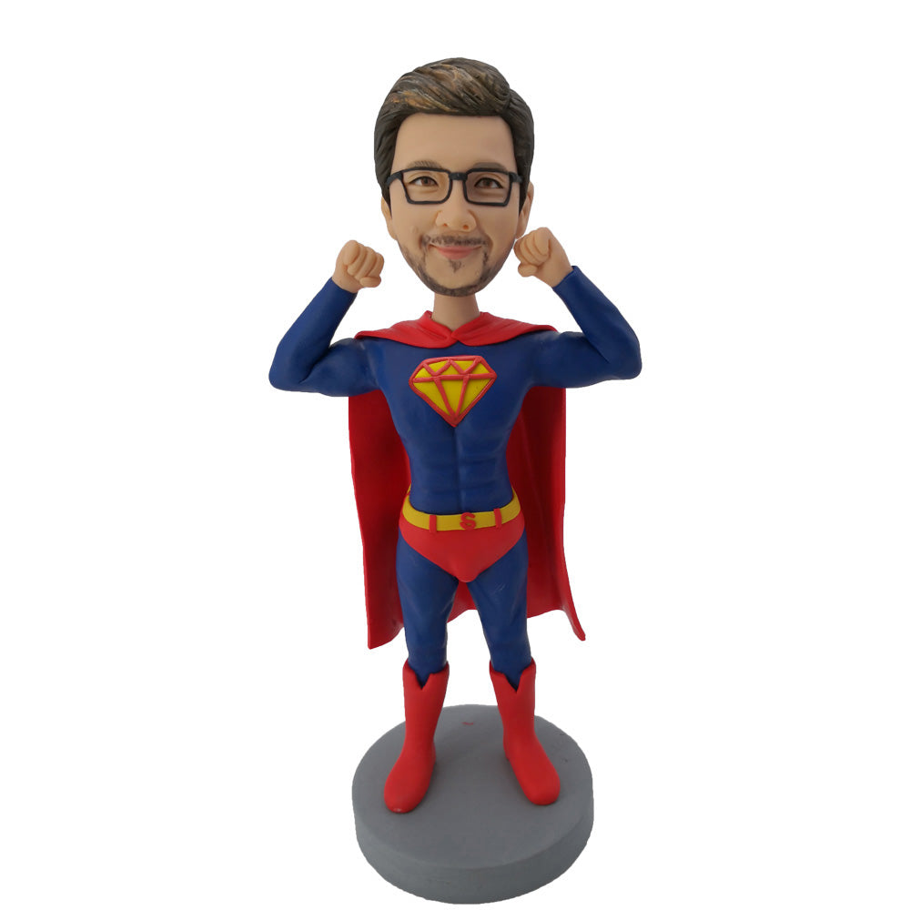 #2 Red Cloak Strong Superman Bobblehead