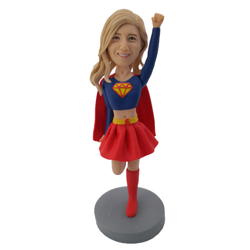 Flying Female Superman Bobblehead