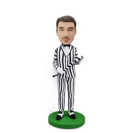 Clown Custom Bobblehead with Zebra Suit