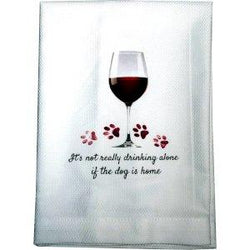 Not drinking alone bar towel