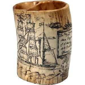 Ship Desk Pencil Cup Simulated Scrim