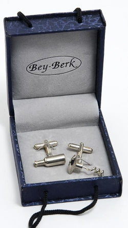 Corkscrew/Wine Bottle Cufflink