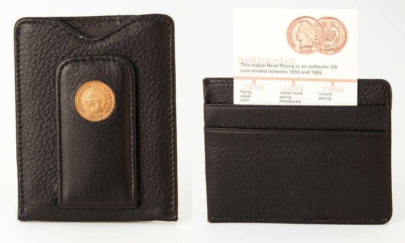 Indian Head Penny Wallet Brown
