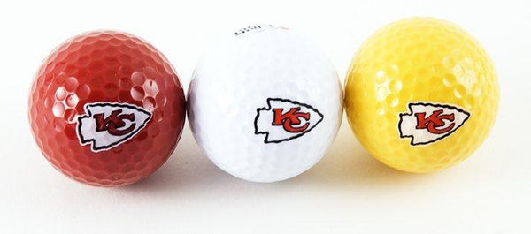 Golf Ball 3-Pack KC Chiefs