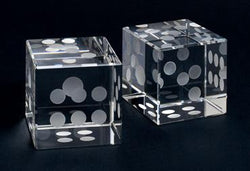 Pair Large Crystal Dice
