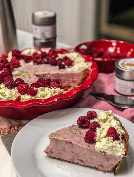 Tart Raspberry Lime Pie | Recipeish | Gustus Vitae
