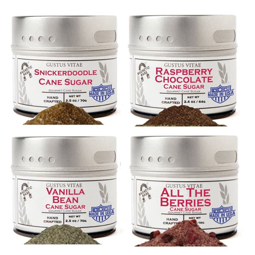 Berries & Vanilla Cane Sugars Collection - Artisan Infused Cane Sugars Collections & Gift Sets Gustus Vitae