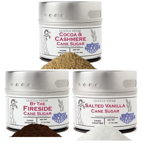By The Fireside Cane Sugars Collection - 3 Tins Collections & Gift Sets Gustus Vitae