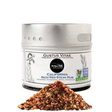 Load image into Gallery viewer, California Rich Red Steak Rub Limited Edition Gustus Vitae