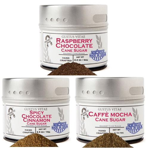 Chocolate Lovers Cane Sugar Collection - 3 Tins Collections & Gift Sets Gustus Vitae