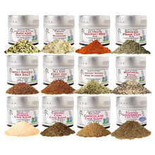 Load image into Gallery viewer, Complete Holiday Flavor Set of 12 - The Perfect Seasonings For Autumn & Winter Collections & Gift Sets Gustus Vitae