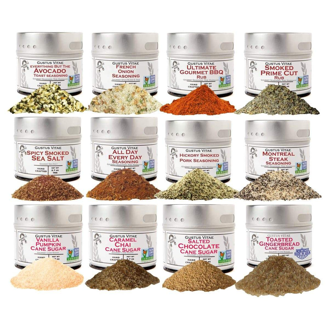 Complete Holiday Flavor Set of 12 - The Perfect Seasonings For Autumn & Winter Collections & Gift Sets Gustus Vitae