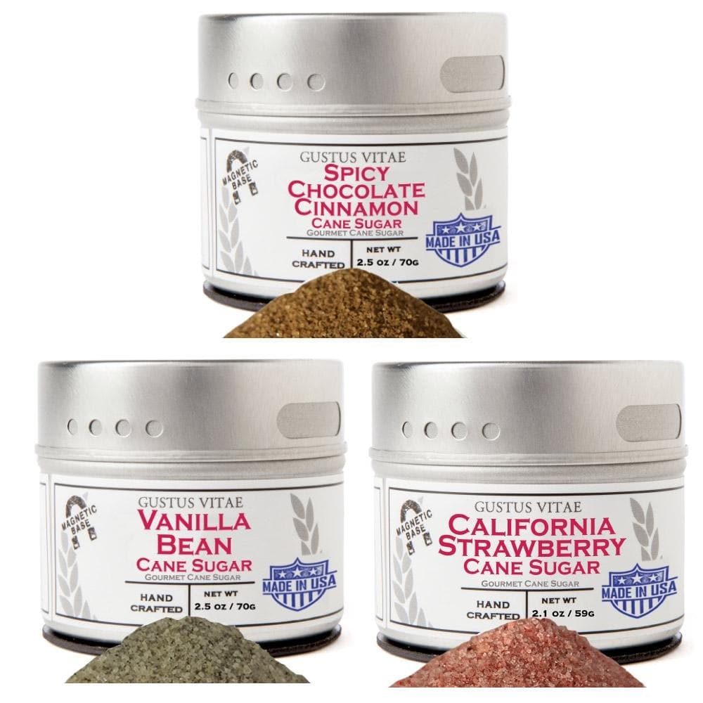 Essential Baking Sugars - 3 Tins Collections & Gift Sets Gustus Vitae