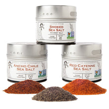 Load image into Gallery viewer, Gourmet Grilling Salts Collection - 3 Tins Collections & Gift Sets Gustus Vitae