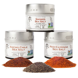 Gourmet Grilling Salts Collection - 3 Tins Collections & Gift Sets Gustus Vitae