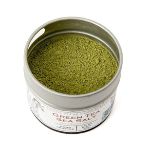 Green Tea Sea Salt Gourmet Salts Gustus Vitae