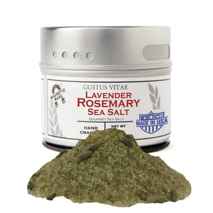 Lavender Rosemary Sea Salt Gourmet Salts Gustus Vitae