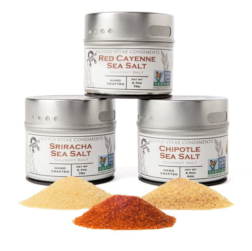 Red Hot Sea Salts Collection - 3 Tins Collections & Gift Sets Gustus Vitae