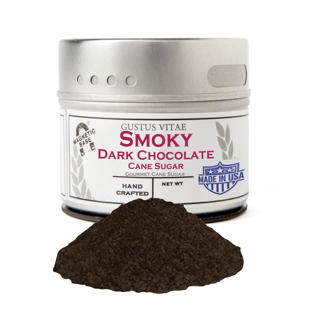 Smoky Dark Chocolate Cane Sugar Gourmet Cane Sugar Gustus Vitae