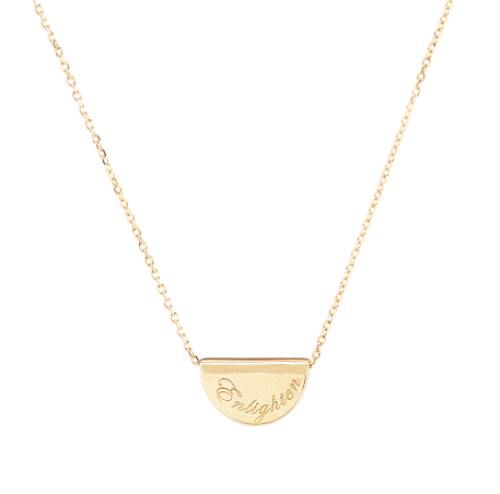 By Charlotte 14K Gold Mini Lotus Necklace