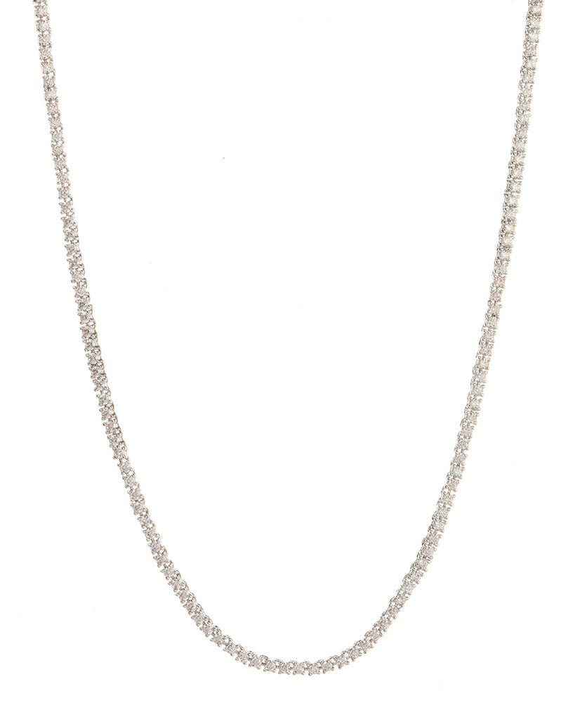 Luv Aj Mini Ballier Necklace Silver