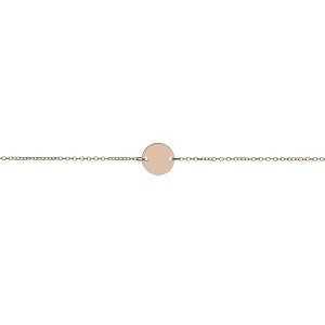 Minimal Disc Bracelet, Rose Gold