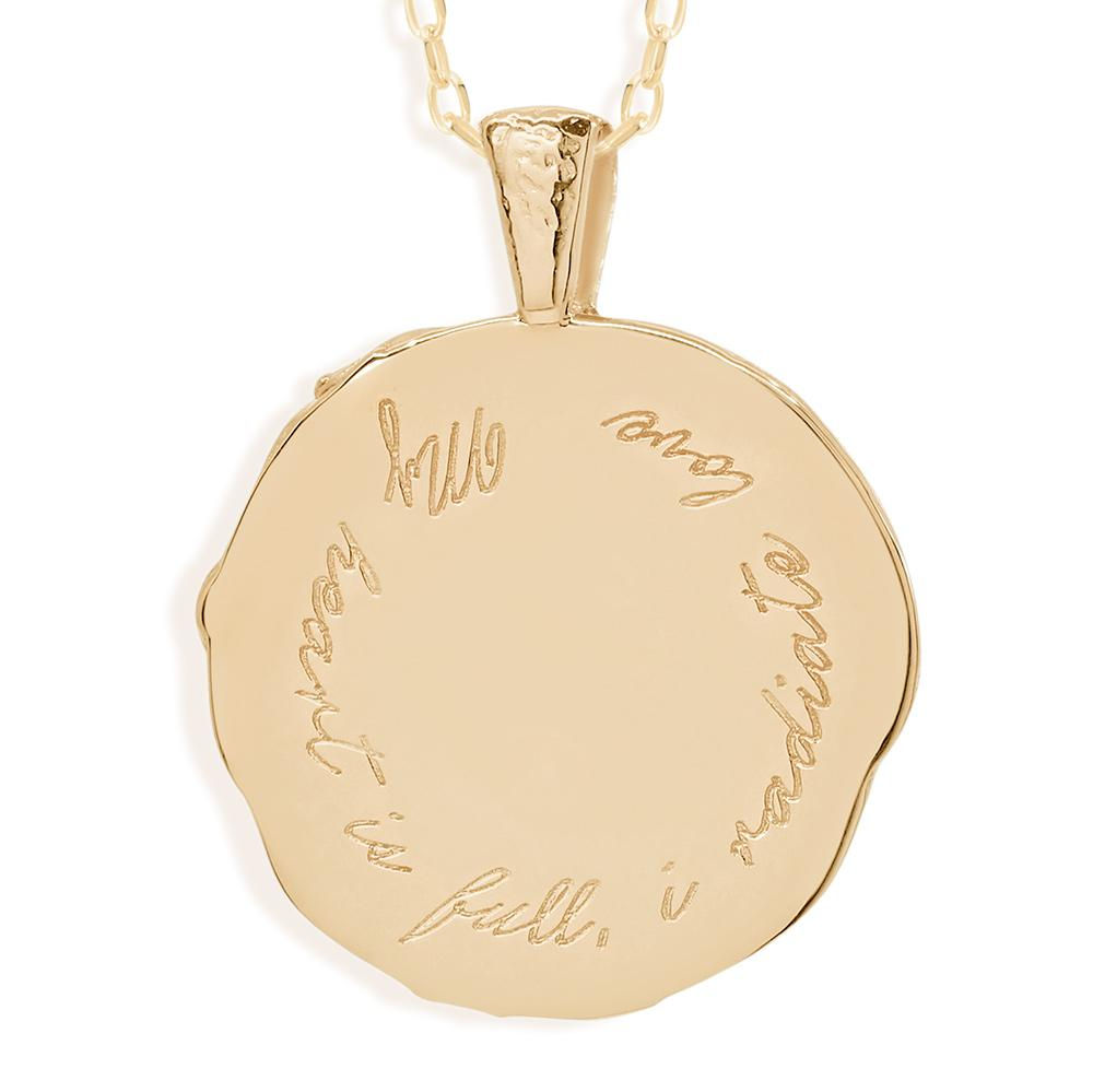 By Charlotte Cancer Zodiac Necklace, Gold