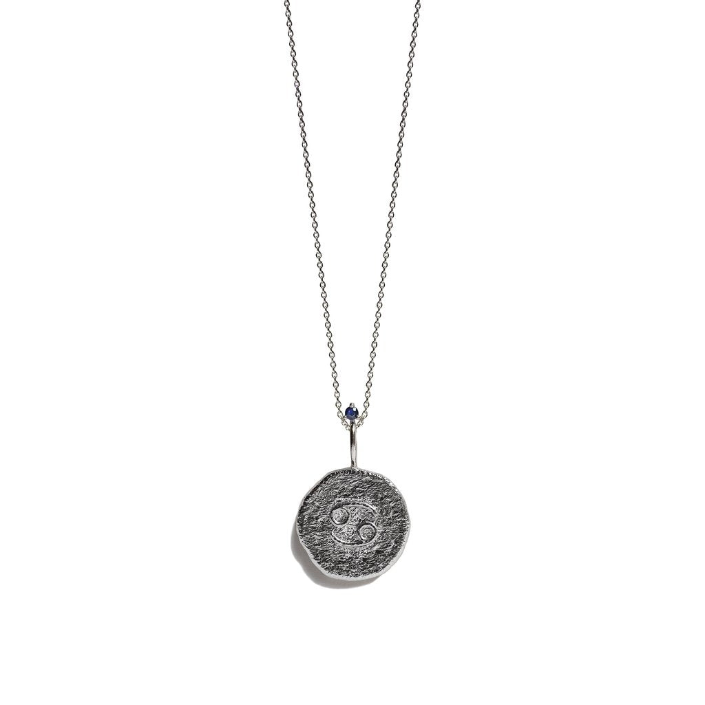 CANCER, The Silver Zodiac Necklace By Aletheia & Phos