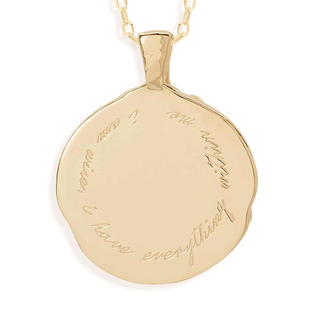 By Charlotte Capricorn Zodiac Necklace, Gold
