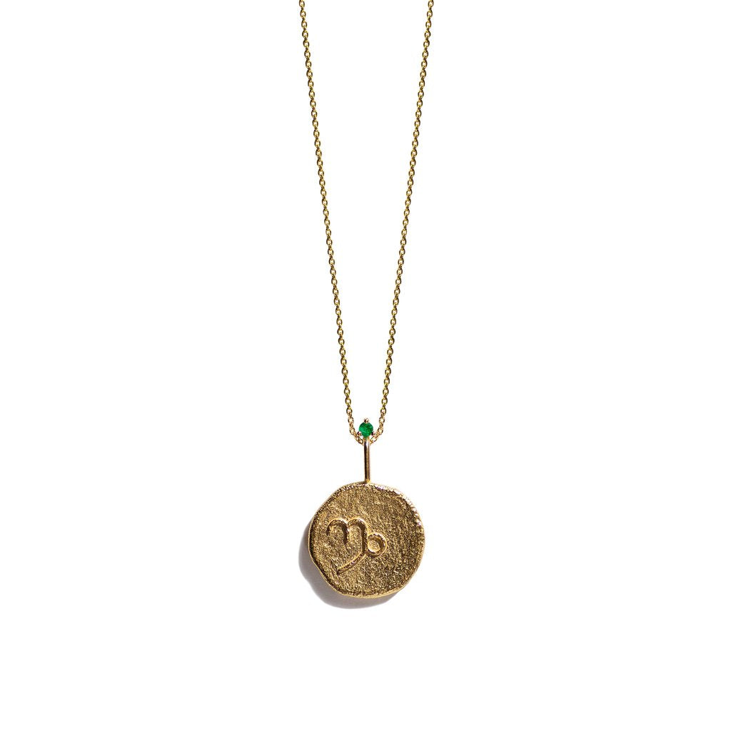Aletheia & Phos Zodiac Gold Necklace, Capricorn