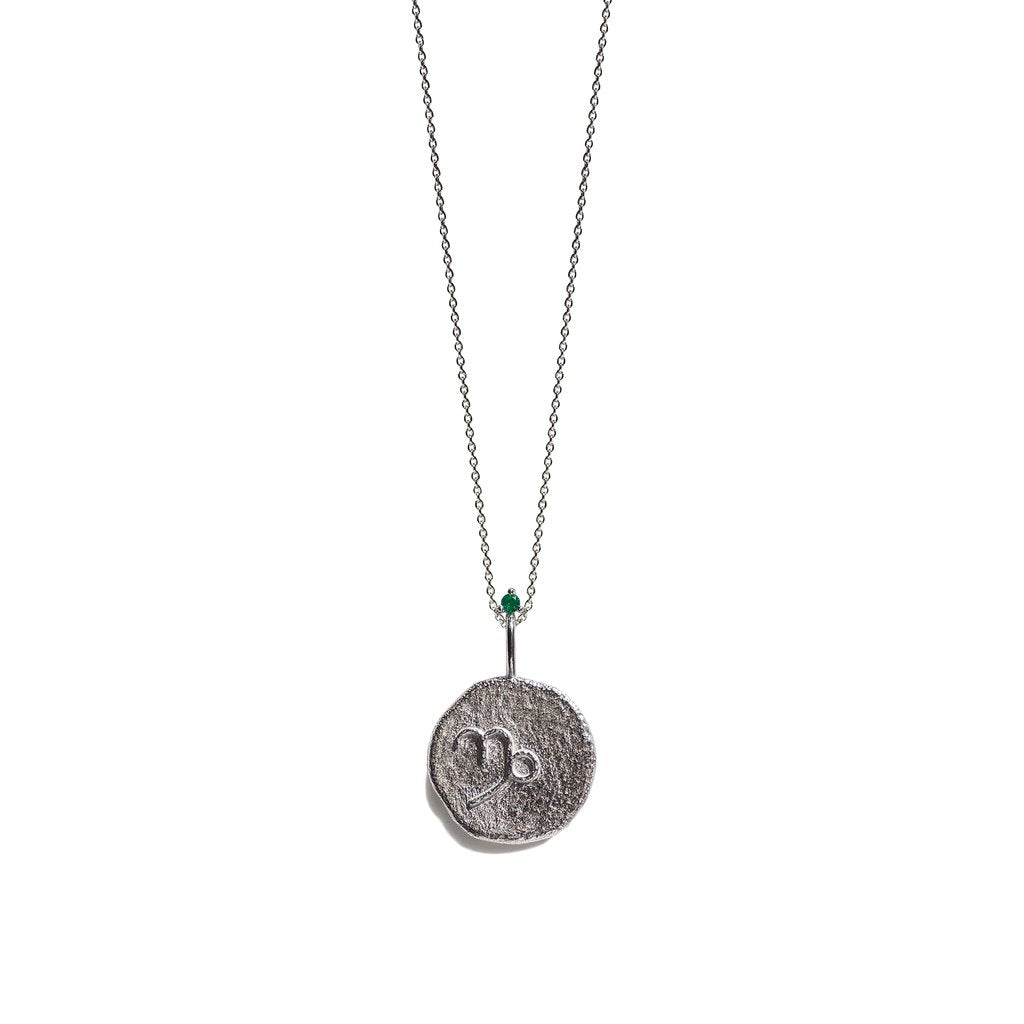 Aletheia & Phos Zodiac Silver Necklace, Capricorn