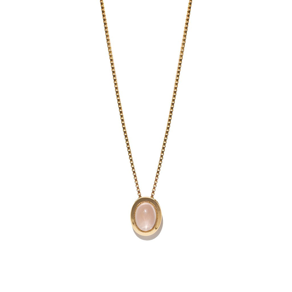 Estelle Necklace | Rose Quartz By Aletheia & Phos