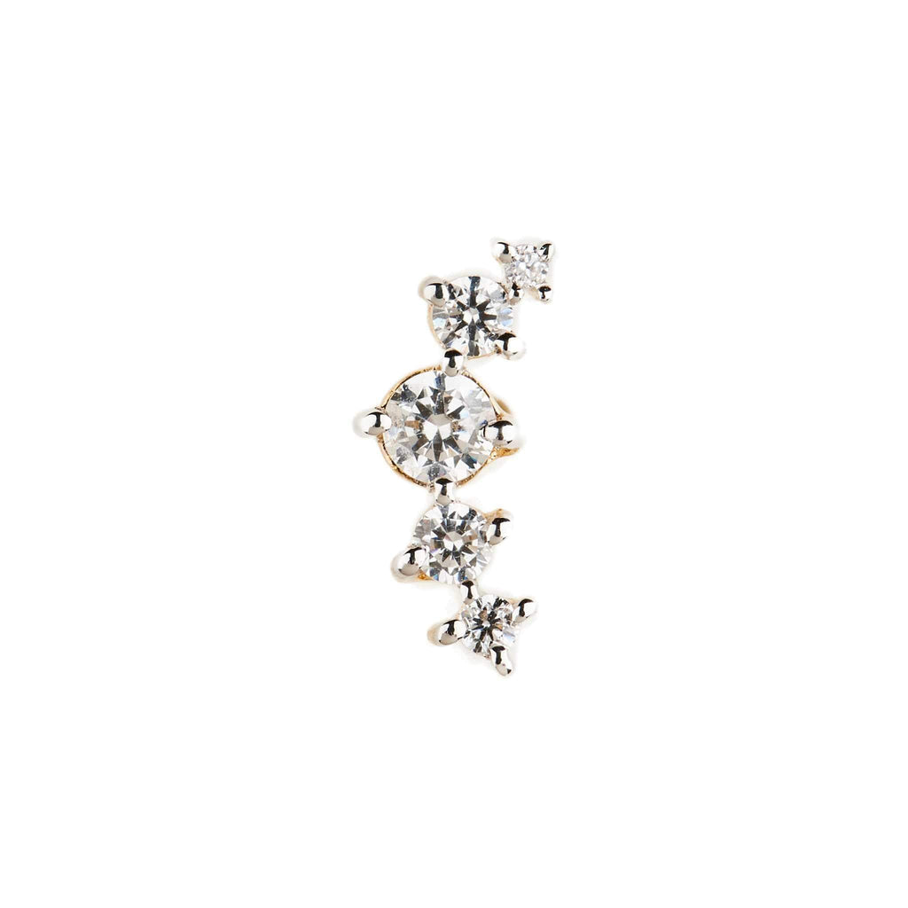 By Charlotte Fly Me To The Moon Single Earring, 14K Gold