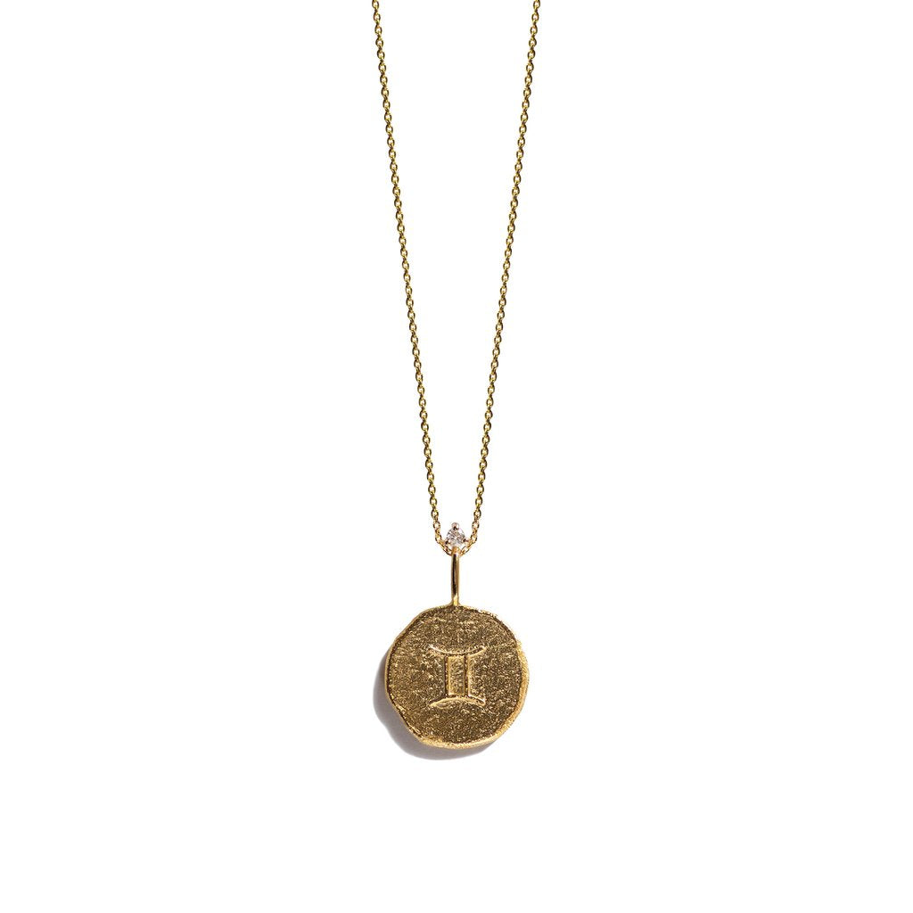 GEMINI, The Gold Zodiac Necklace By Aletheia & Phos