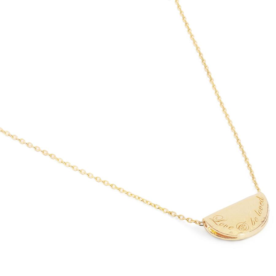 Gold Love and Be Loved Necklace - January