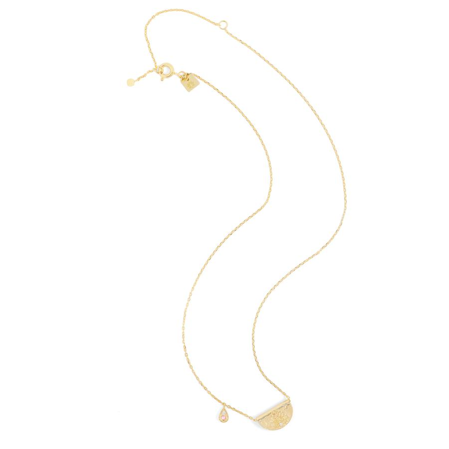 Gold Radiate Your Light Necklace - October