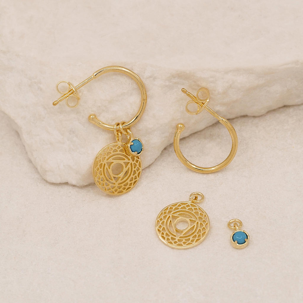 By Charlotte Gold I Give Voice To My Inner Wisdom,Throat Chakra Hoops