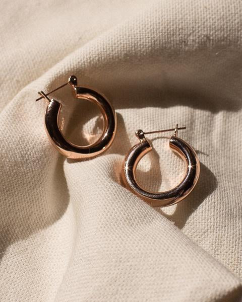 Luv Aj Baby Amalfi Rose Gold Tube Hoops