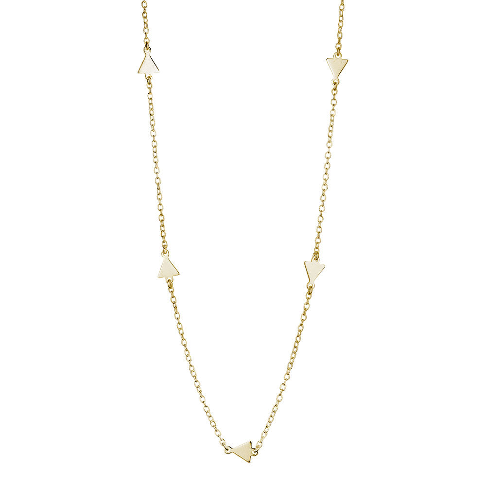 Alexa Triangle Necklace, Gold