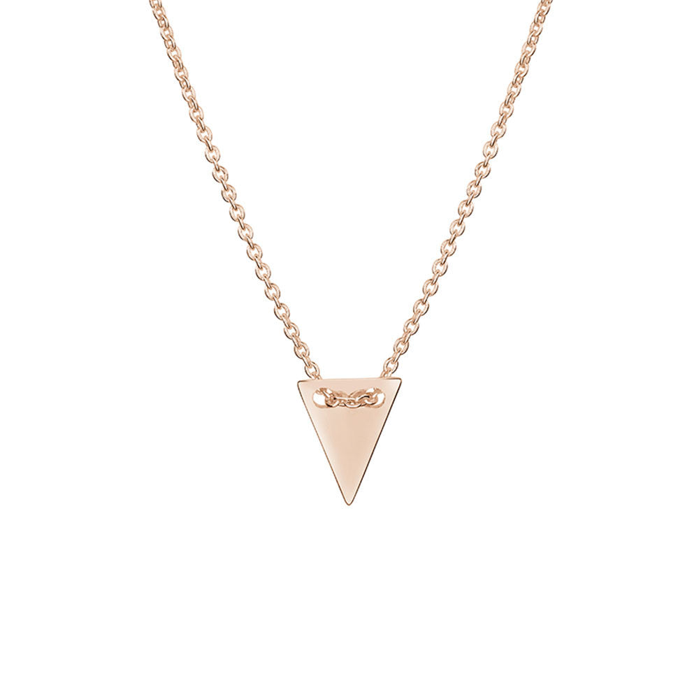 Triangle Pendant Necklace, Rose Gold