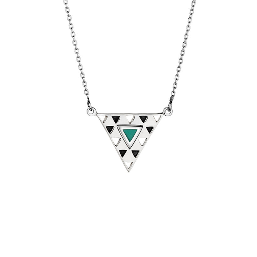 Delta Silver & Turquoise Necklace