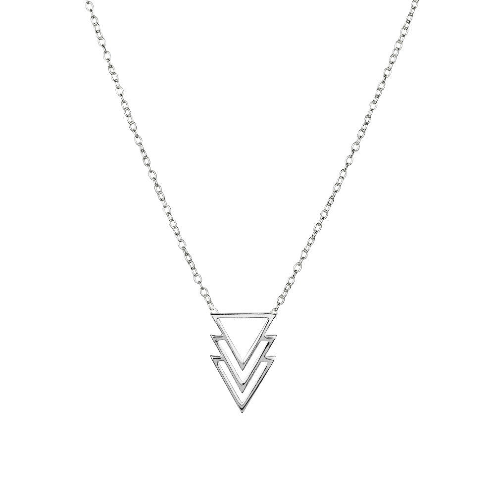Multi Triangle Necklace