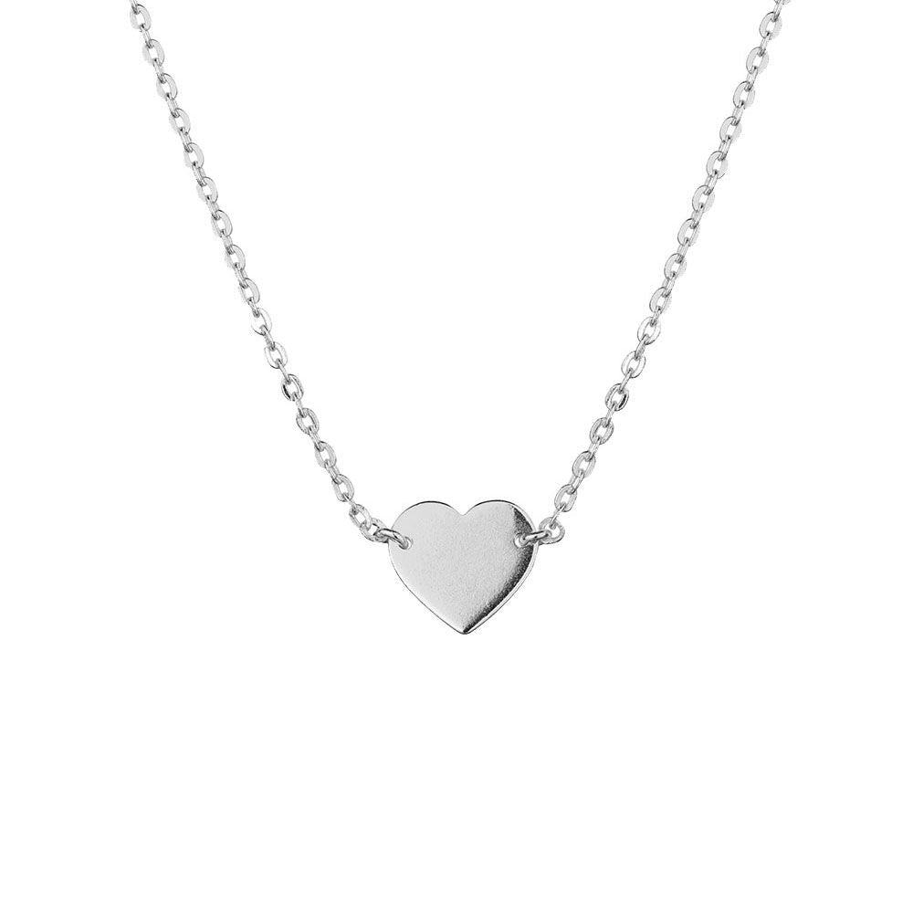 Shining Heart Necklace, Silver