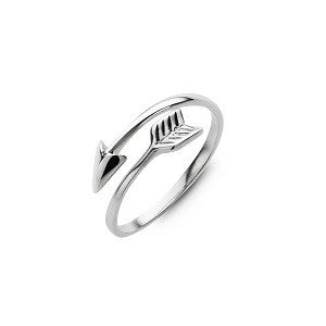Double Arrow Ring, Sterling Silver
