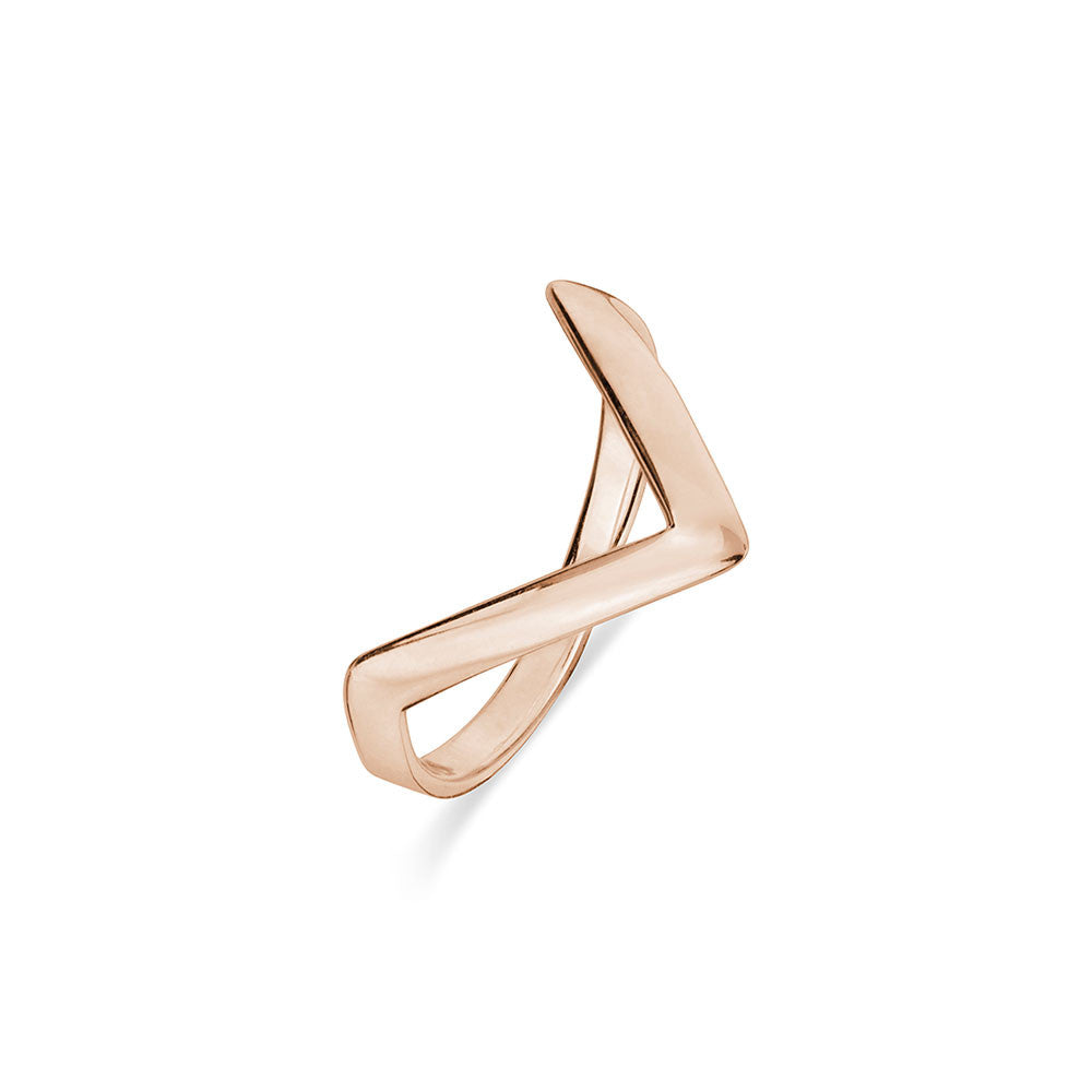 Rose Gold V Ring